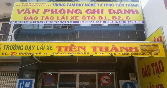 truong day lai xe tien thanh 1